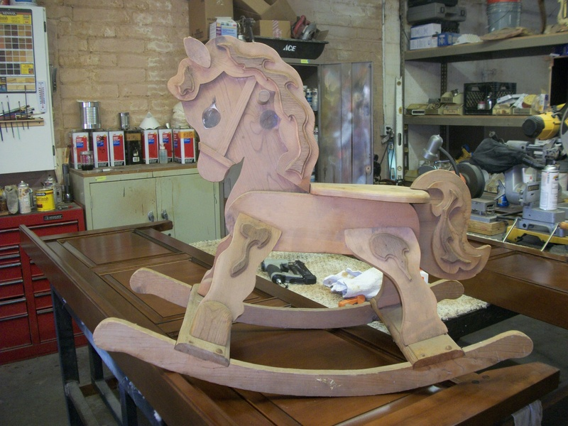 Rocking Horse before refinishing