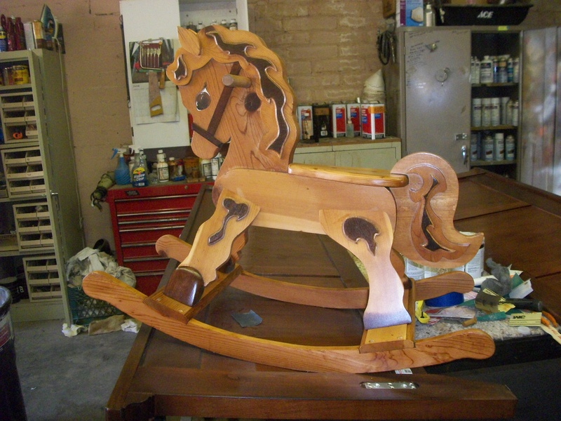 Rocking Horse after refinishing
