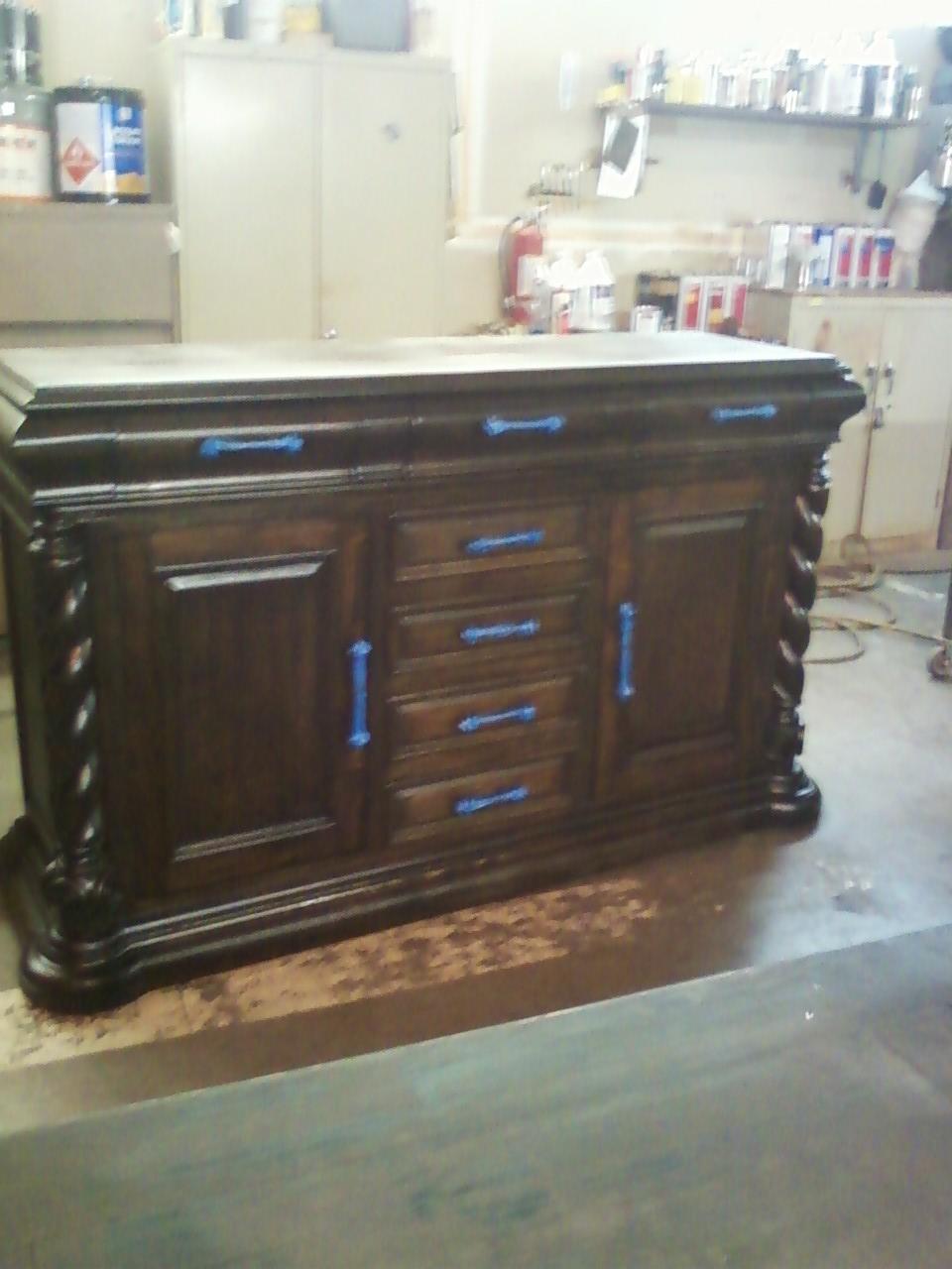 Cabinet after restoration
